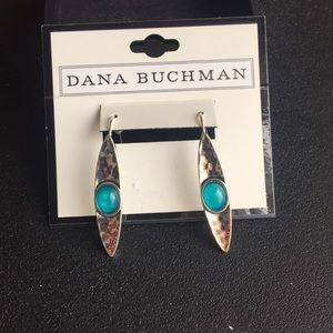 Dana Buchman silver and blue earrings